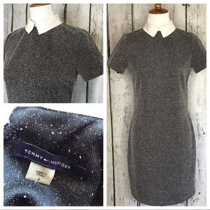 Tommy Hilfiger tweed Peter Pan collar sheath dress